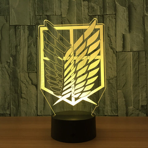 Attack on Titan 3D LED Night Lamp