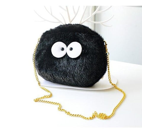 Studio Ghibli Spirited Away Susuwatari Black Spirit Shoulder Bag