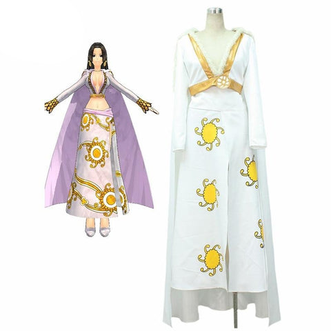 One Piece Boa Hancock Impel Down Arc Cosplay Costume Dress