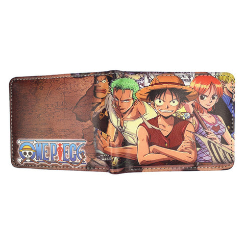 One Piece Monkey D. Luffy Straw Hat Pirates Wallet