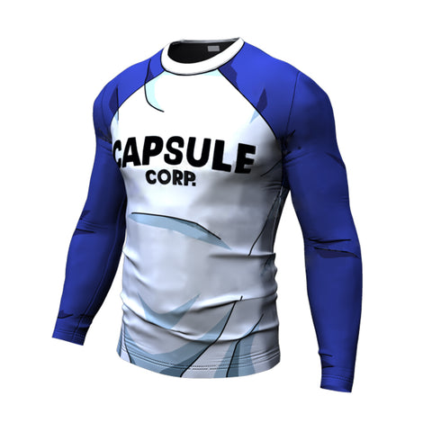 Dragon Ball Z Capsule Corp Compression Fitness Long Sleeve Shirt