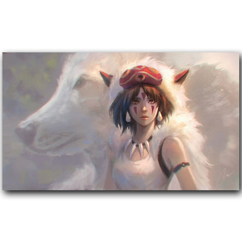 Princess Mononoke Warrior San Movie Poster