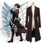 Attack on Titan Levi Ackerman Cosplay Trench Coat