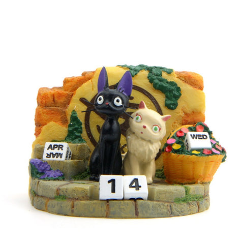 Kiki's Delivery Service Couple Jiji Cat Action Figure Model
