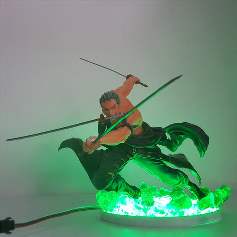 One Piece Pirate Hunter Zoro LED Lamp Figure