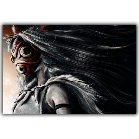 Princess Mononoke Red Mask Movie Poster