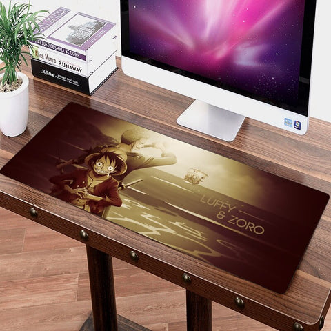 One Piece Roronoa Zoro & Monkey D. Luffy Big Mouse Pad