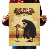 Classic One Piece Monkey D. Luffy and Red Haired Shanks Movie Poster