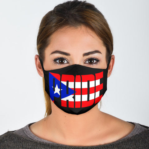 Puerto Rico Face Mask + 2 Free Filters