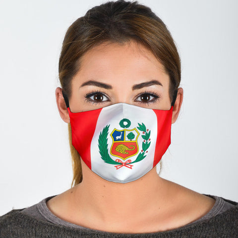 Peru Flag Face Mask + 2 Free Filters