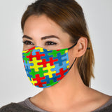 Puzzle Pieces Face Mask + 2 Free Filters