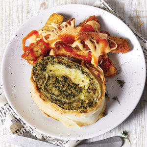 Spinach and Feta filo Scroll x 7