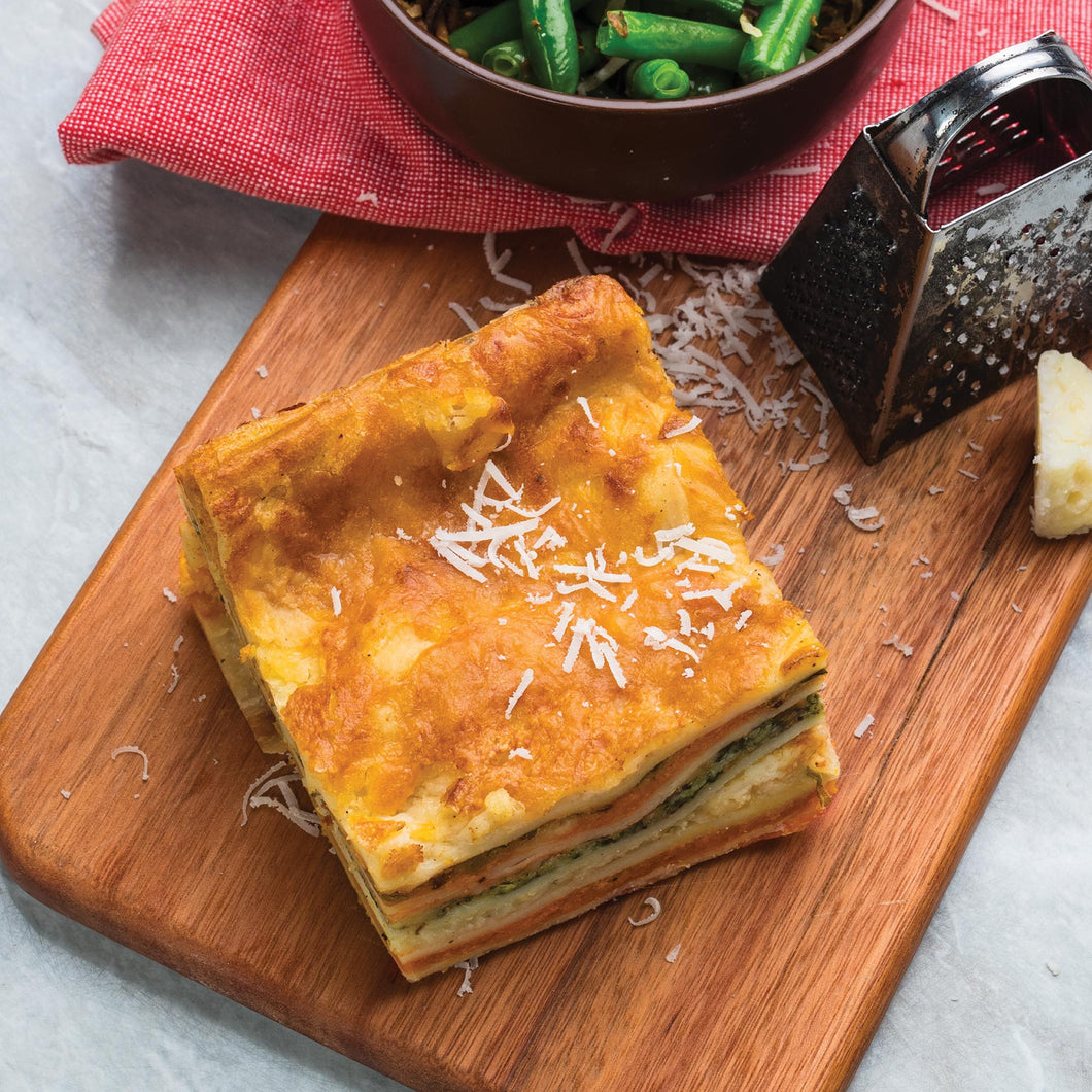 Traditional Pumpkin & Spinach Square Lasagne 1 x 12 Piece