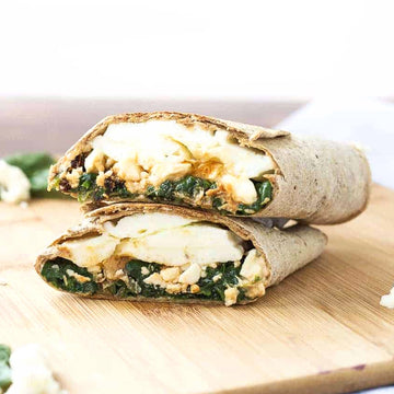 Spinach, Feta & Egg Wrap