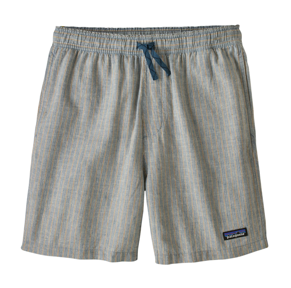 PATAGONIA BAGGIES NATURAL SHORTS - BALE STRIPE : PIGEON BLUE