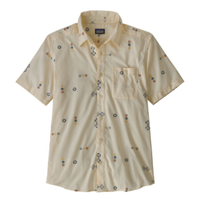 PATAGONIA GO TO SHIRT SS - MICRO MIXTURE : WHITE WASH