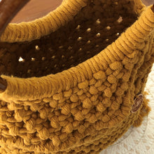 Load image into Gallery viewer, 'Market Days' Mustard Handbag-Handbags- Slow Yarn Macrame Handmade Brisbane