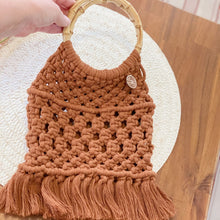 Load image into Gallery viewer, Amber Macrame Handbag