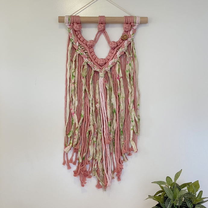 'Happy Earth Boho Garden' Wall Hanging-Macrame Wall Hanging- Slow Yarn Macrame Handmade Brisbane