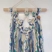 Load image into Gallery viewer, 'Happy Earth Boho Ocean' Wall Hanging-Macrame Wall Hanging- Slow Yarn Macrame Handmade Brisbane