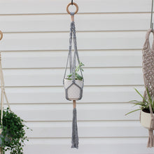 Load image into Gallery viewer, Macramé Plant Hanger 'Growing Friendship'-Plant Hanger- Slow Yarn Macrame Handmade Brisbane