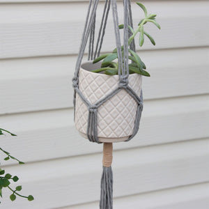 Macramé Plant Hanger 'Growing Friendship'-Plant Hanger- Slow Yarn Macrame Handmade Brisbane