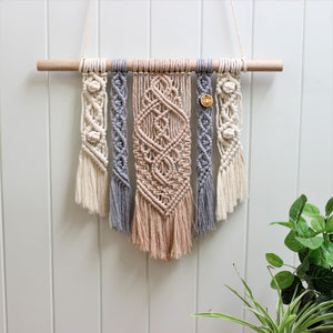 'Kindness' Wall Hanging-Macrame Wall Hanging- Slow Yarn Macrame Handmade Brisbane