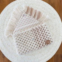 Load image into Gallery viewer, Natural and Nude Clutch Purse-Handbags- Slow Yarn Macrame Handmade Brisbane