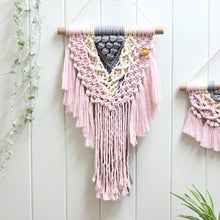 Load image into Gallery viewer, 'Pretty in Pink' Wall Hanging-Macrame Wall Hanging- Slow Yarn Macrame Handmade Brisbane