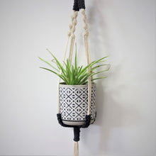 Load image into Gallery viewer, 'Navy' Macramé Plant Hanger