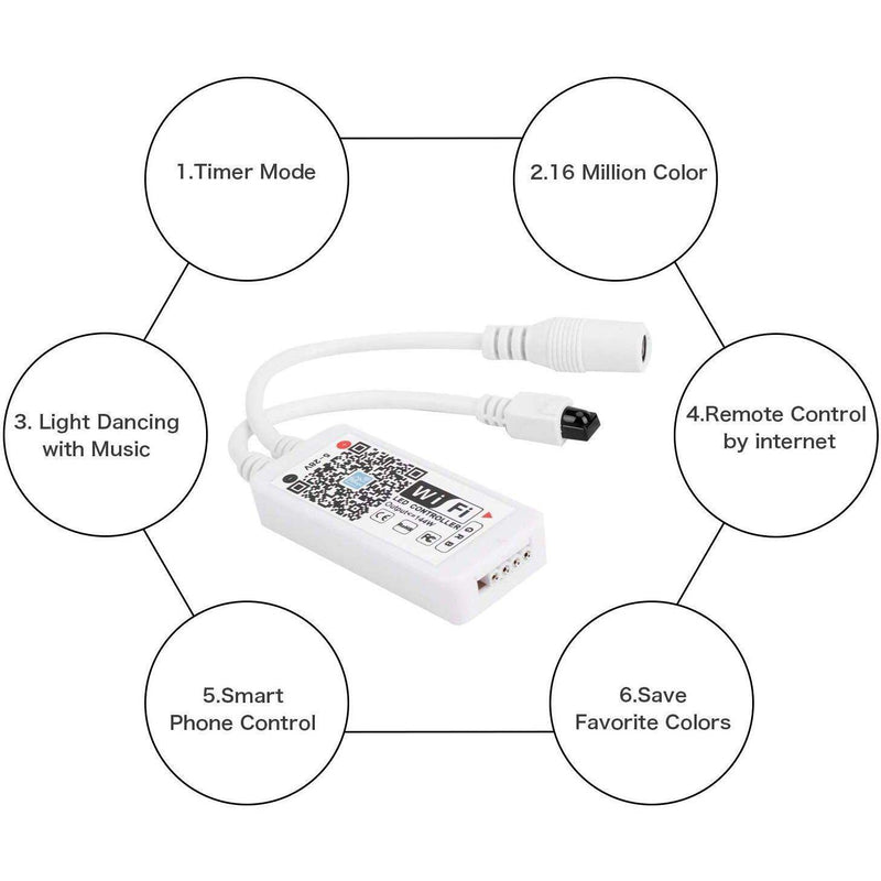 LED WiFi Lights Strip Adapter - Smart Controller