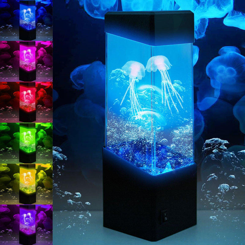 LED Jellyfish Tank Aquarium Color Changing Mood Lamp Night Light