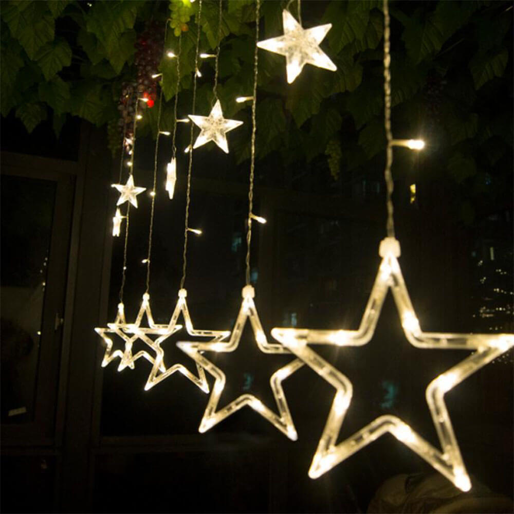 Star Curtain Christmas LED Lights
