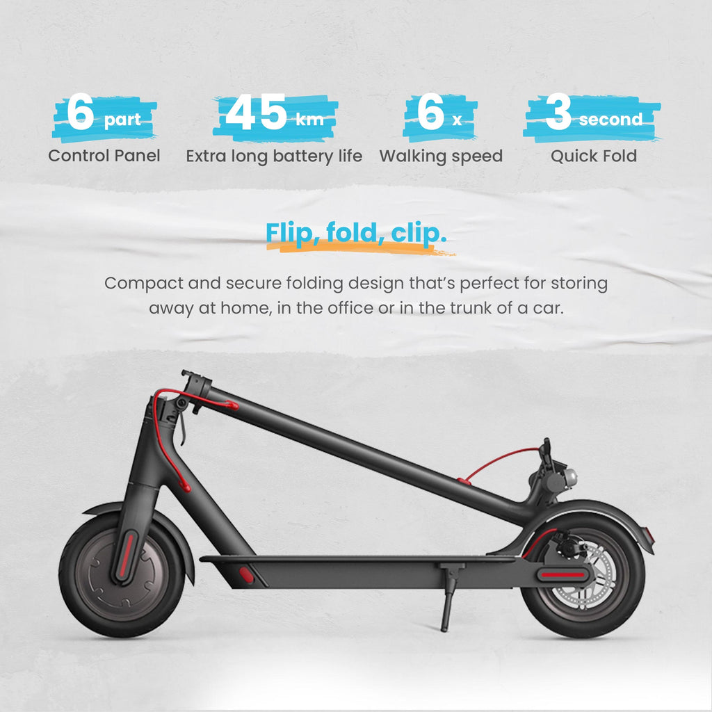 Xiaomi Mi Electric Scooter Pro,  28 Miles Long-Range Battery, Up to 16 MPH, Easy Fold-n-Carry Design, Ultra-Lightweight Adult Electric Scooter