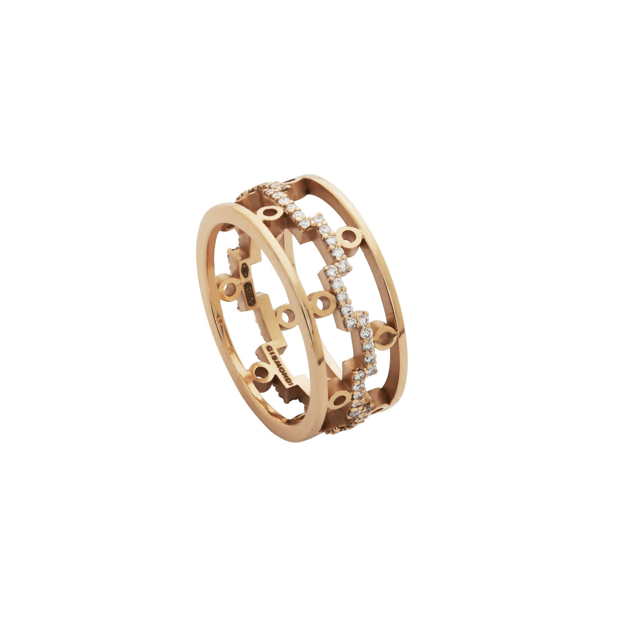 Dedalo 2020 Rose Gold Ring With Diamonds