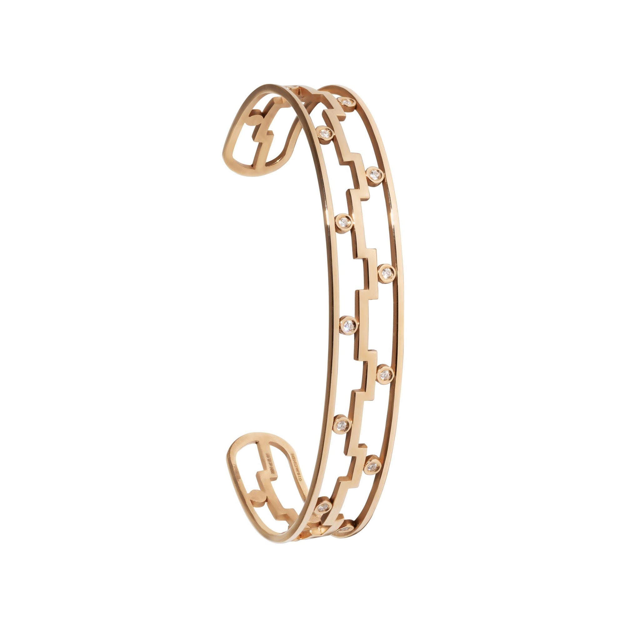 Dedalo 2020 Rose Gold Bracelet With Diamonds