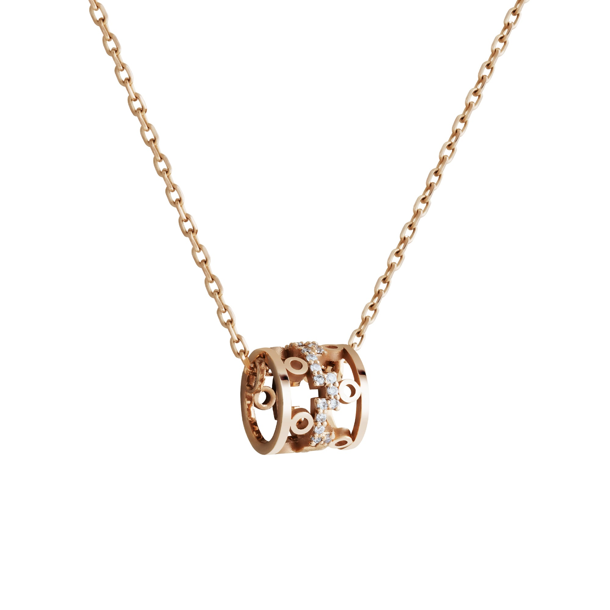 Dedalo 2020 Rose Gold Necklace With Diamonds