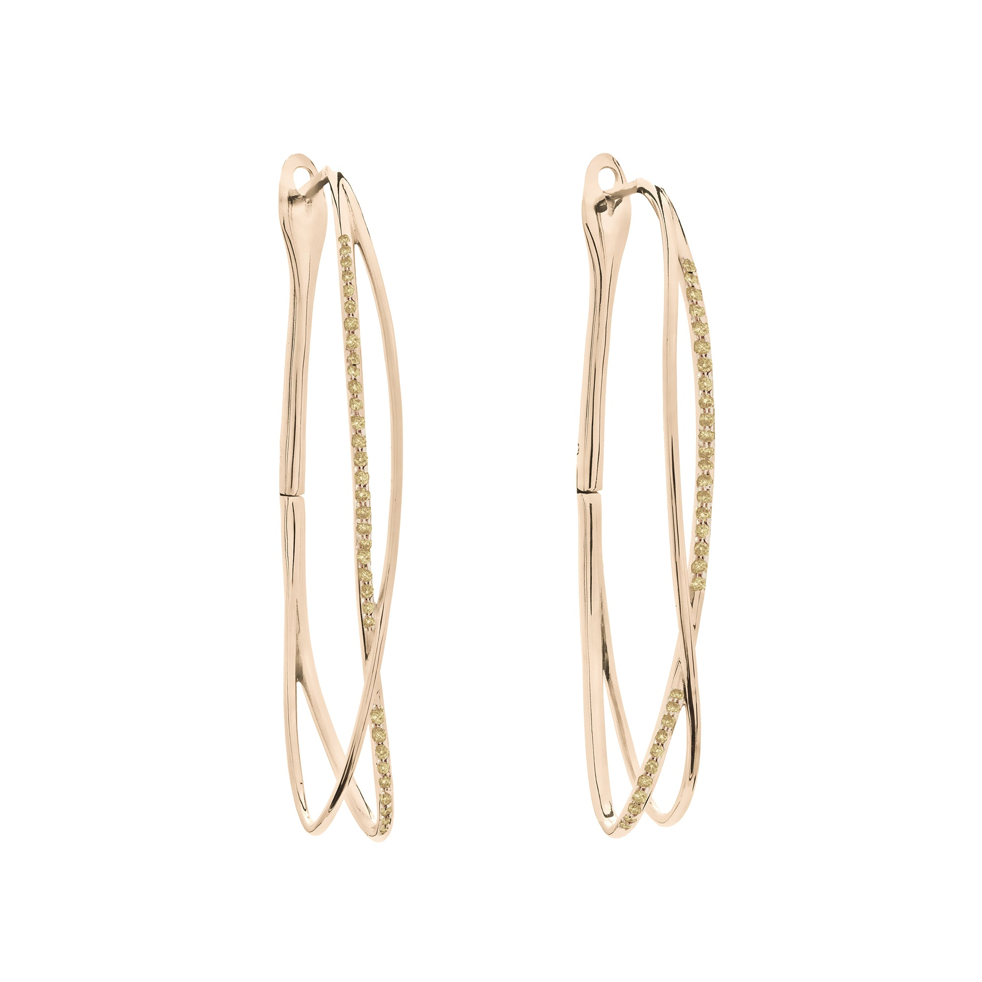 Noi Rose Gold Earrings With Fancy Diamonds