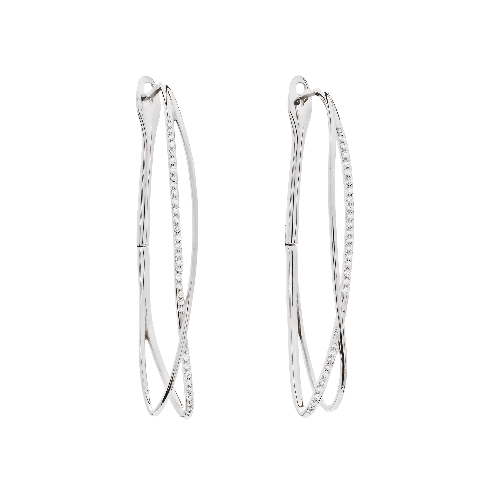 Noi White Gold Earrings With Diamonds