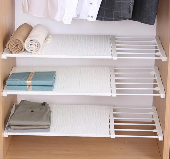 Calasca Cabinets & Shelves Fine Living Adjustable Closet Organizer - Sml