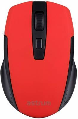 Astrum Computer Mice MW200 MOUSE WIRELESS 2.4G DPI RED
