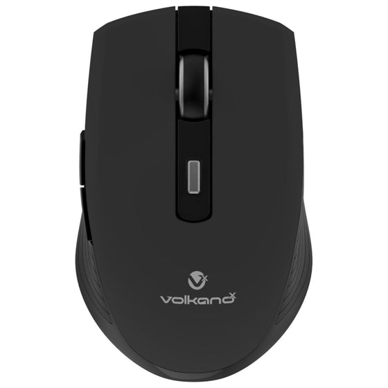 SMD Technologies Computer Mouse Black VolkanoX Uranium Series 6 Button Wireless Mouse