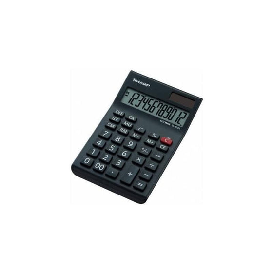 SMD Technologies Desk Calculators Black Sharp EL-122N-BK Desk Calculator -12 Digit Mark Up
