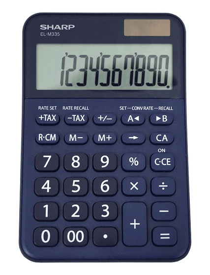 SMD Technologies Desk Calculators Blue Sharp EL-M335B-BL 10-Digit Calculator - Blue