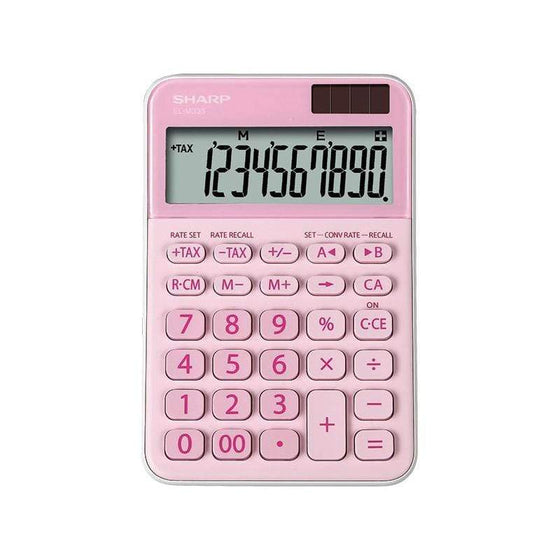 SMD Technologies Desk Calculators Pink Sharp EL-M335B-BL 10-Digit Calculator - Pink
