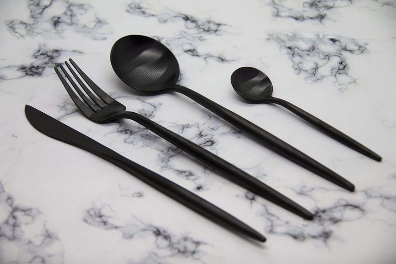 Calasca Finery - Cutlery Set 12pc - Carbon Black