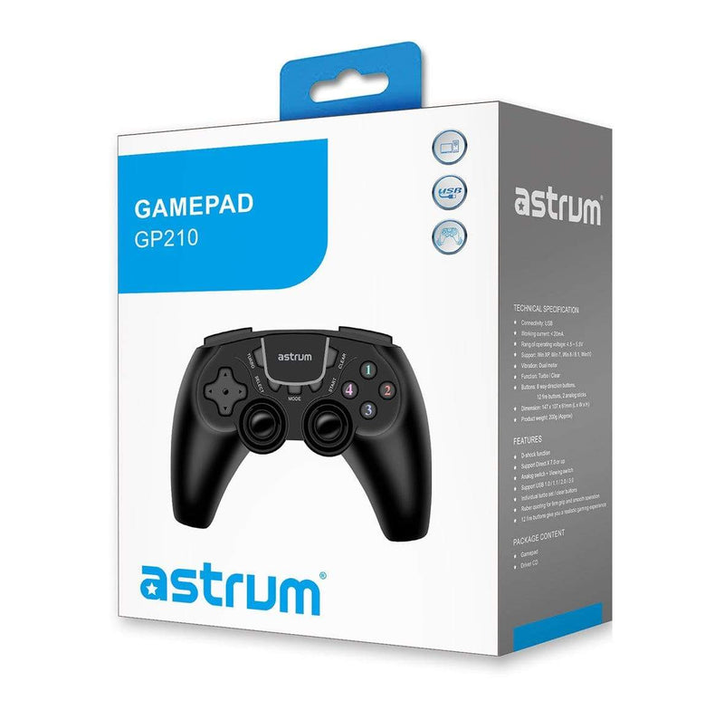 Astrum Gaming Controllers Astrum USB Vibration Gamepad for PC - GP210