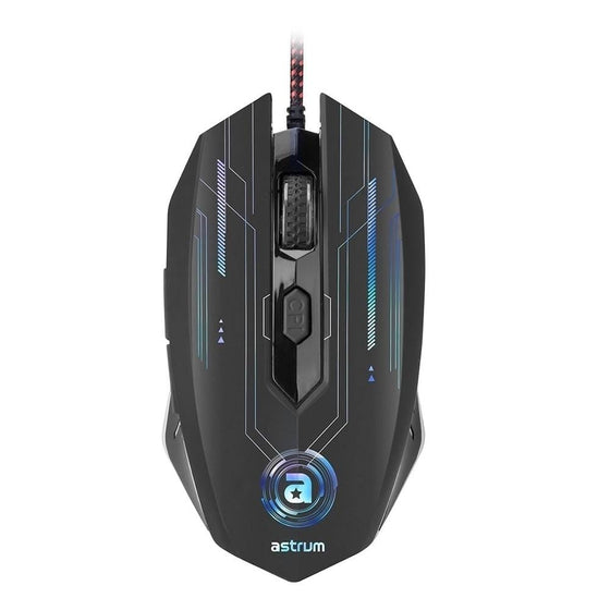Astrum Gaming Mice Gaming Mouse Astrum MG200 6D LED RGB 4800DPI SOFTWARE BLACK