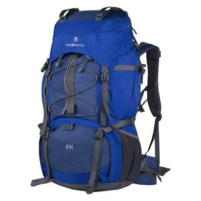 SMD Technologies Hiking Backpacks Blue Volkano Icepick 65L Hiking Backpack - Blue