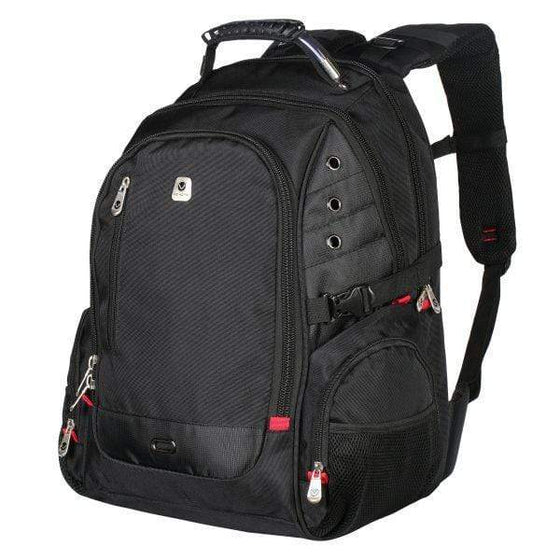 "SMD Technologies Laptop Backpacks Black Volkano Laptop Backpack 16"" Tough series"
